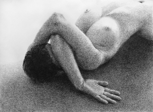 Tone Drawing 4: Graphite on textured paper