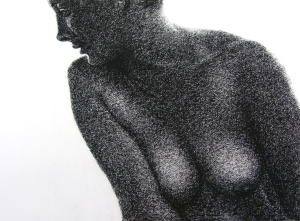 Tone Drawing 5: Charcoal on textured paper