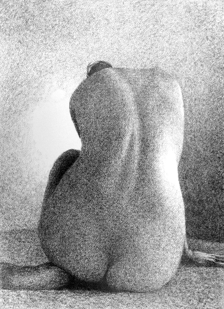Tone Drawing 6: Graphite on textured paper