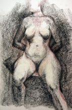 Compressed charcoal, conte